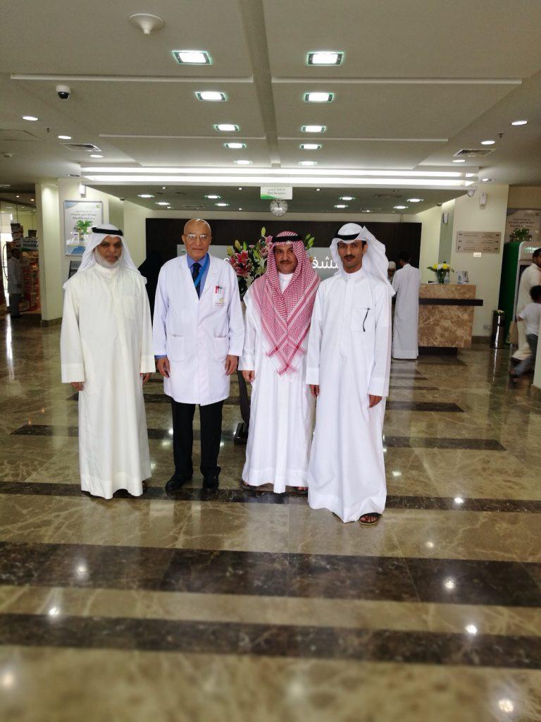 Local dignitaries visiting Sidra Hospital